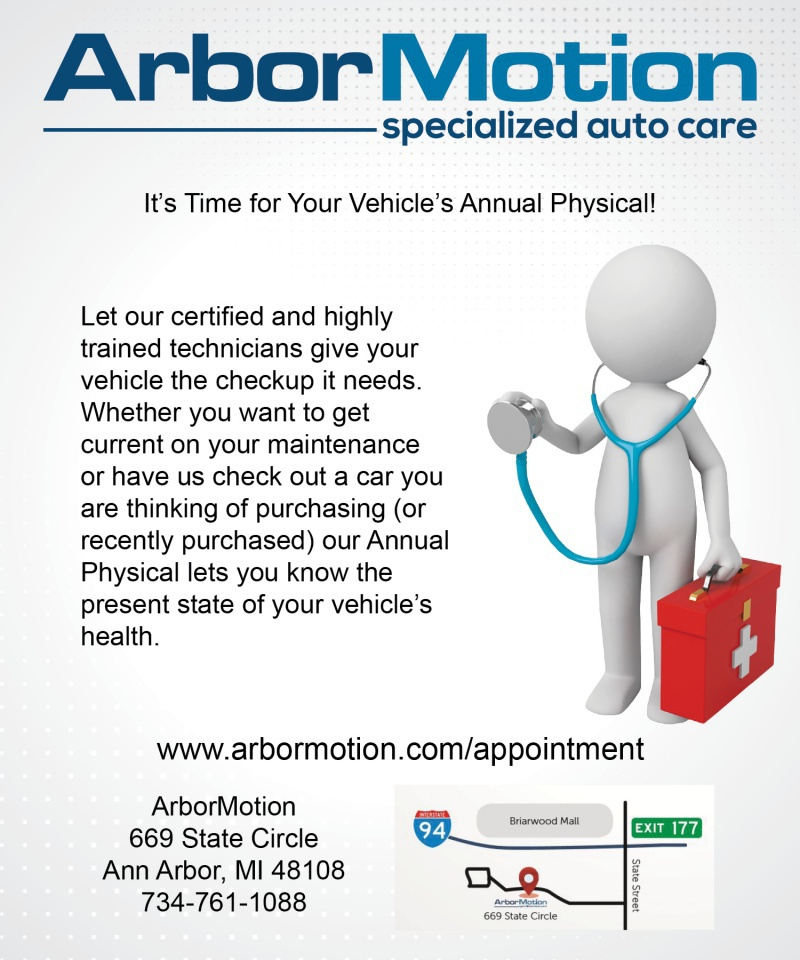 ArborMotion's Annual Physical for Your Vehicle